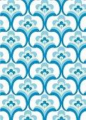 Seamless retro fountain pattern