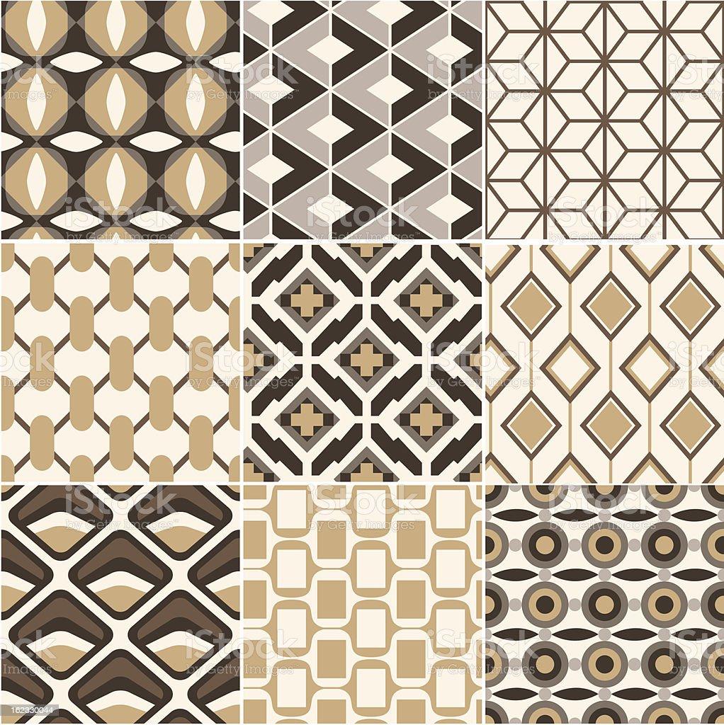 seamless retro geometric pattern royalty-free stock vector art