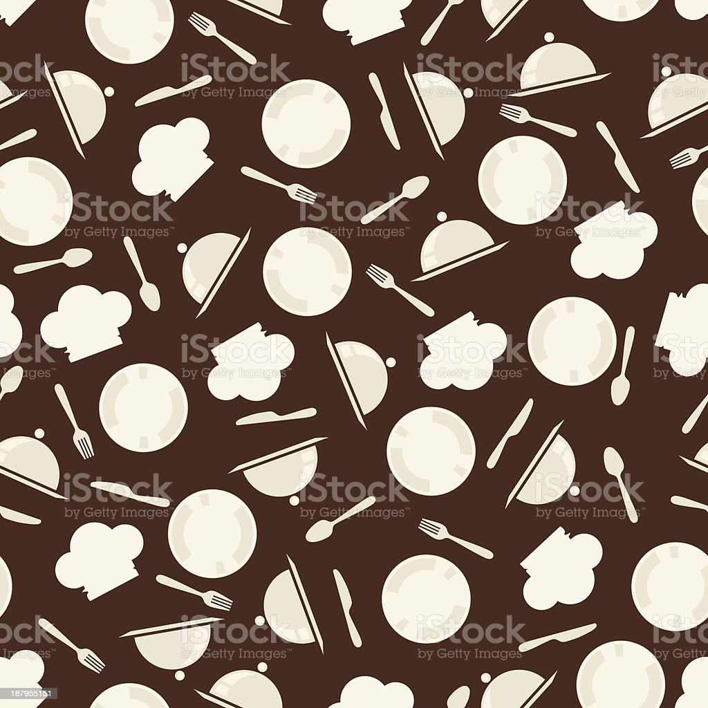 Seamless retro kitchen pattern. royalty-free stock vector art