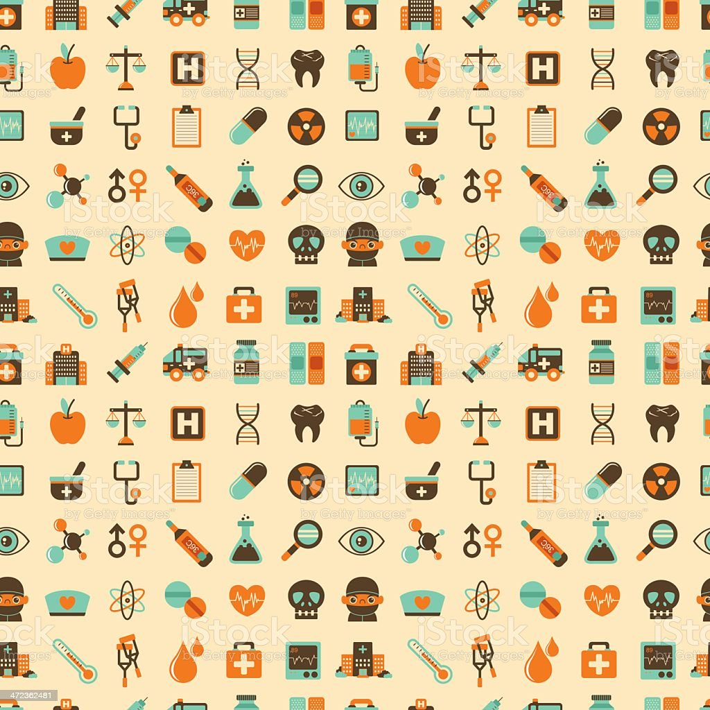 seamless retro Medical pattern royalty-free stock vector art