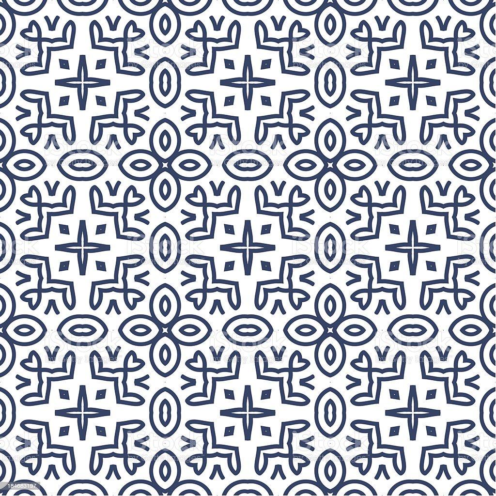 Seamless Retro Pattern Background royalty-free stock vector art