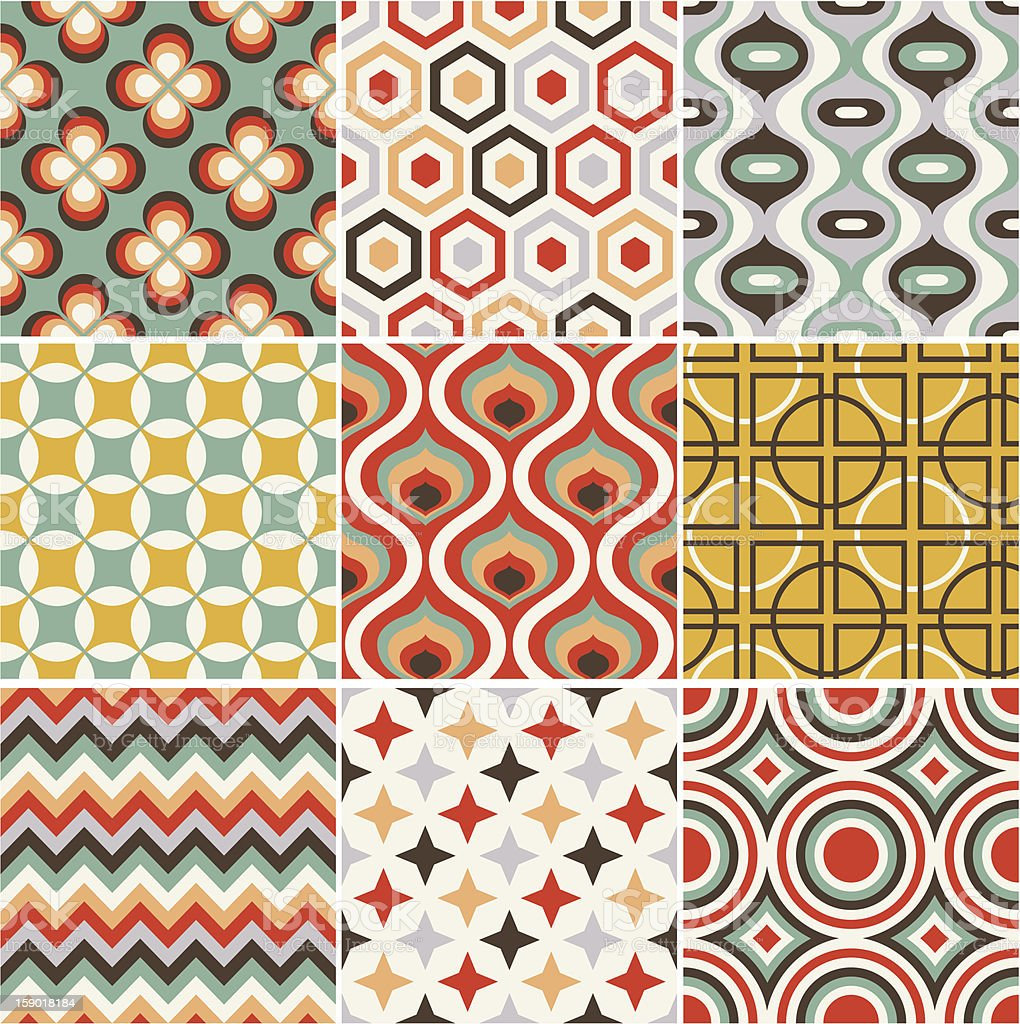 seamless retro pattern royalty-free stock vector art