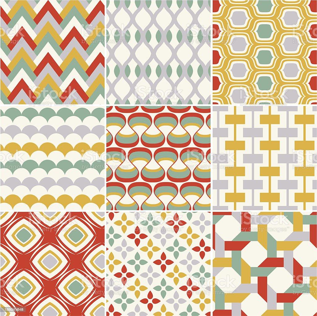 seamless retro pattern royalty-free stock vector art