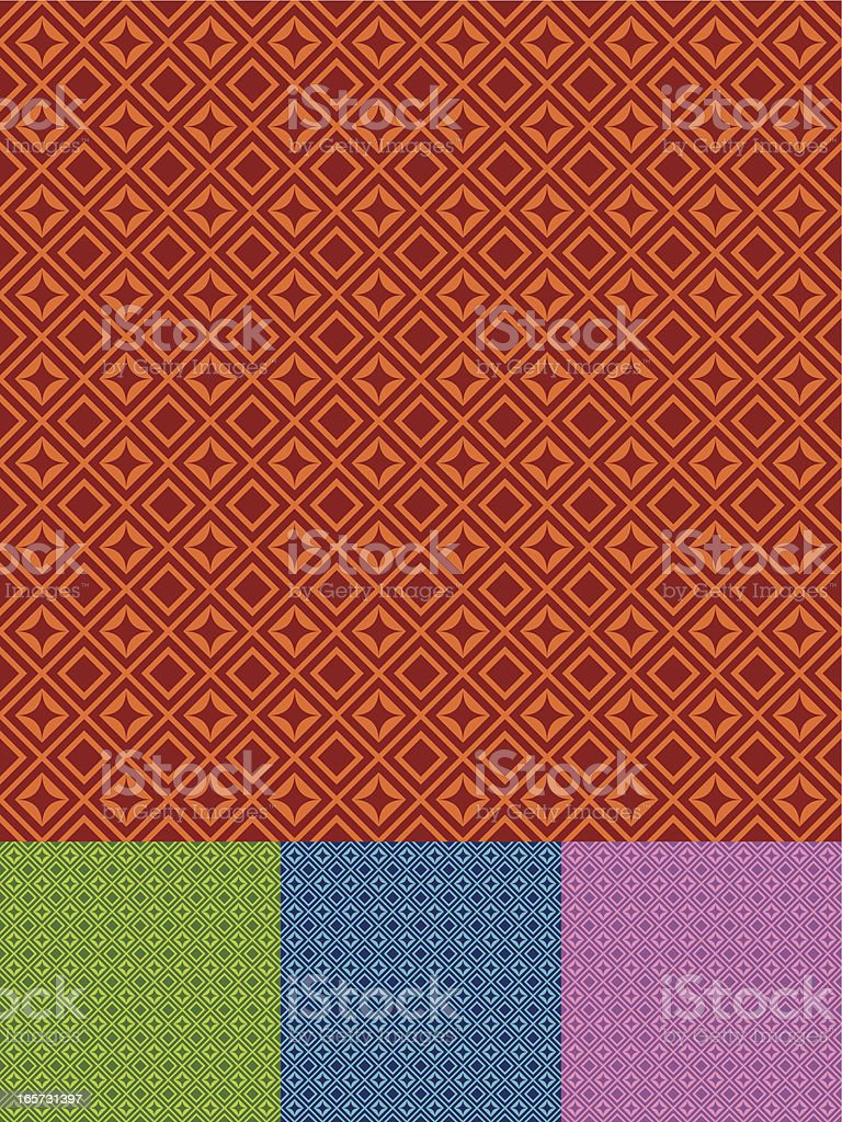 Seamless Retro Rhombus Background royalty-free stock vector art