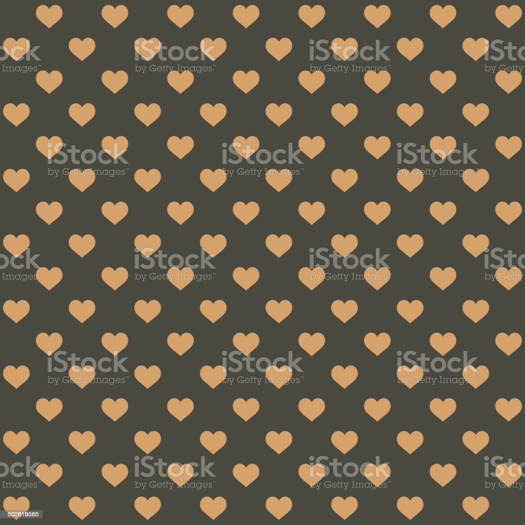 Seamless Retro Style Pattern with Hearts. Vector royalty-free stock vector art