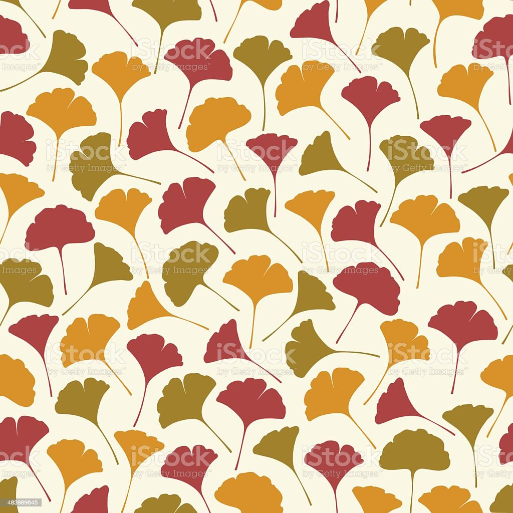 Seamless retro texture with leaves.Template for design fabric, covers, package vector art illustration