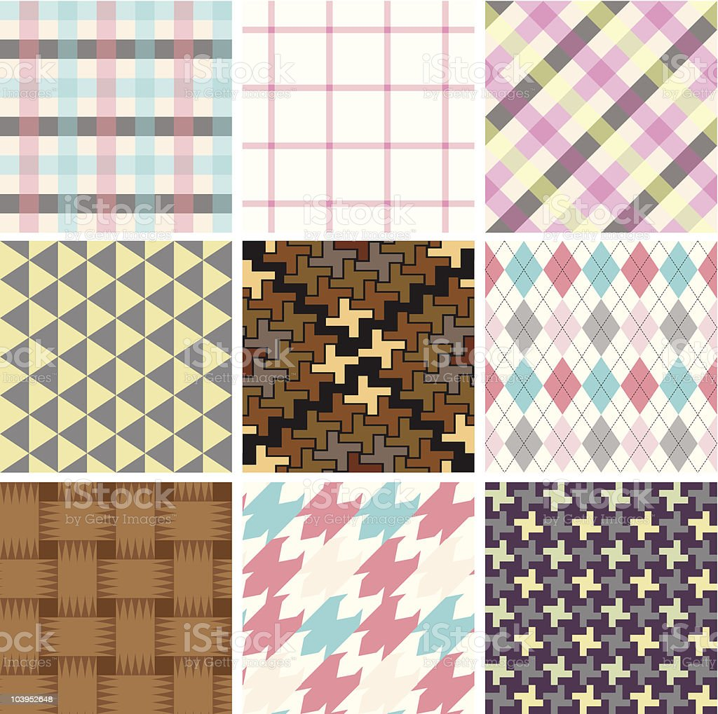 Seamless retro tile royalty-free stock vector art