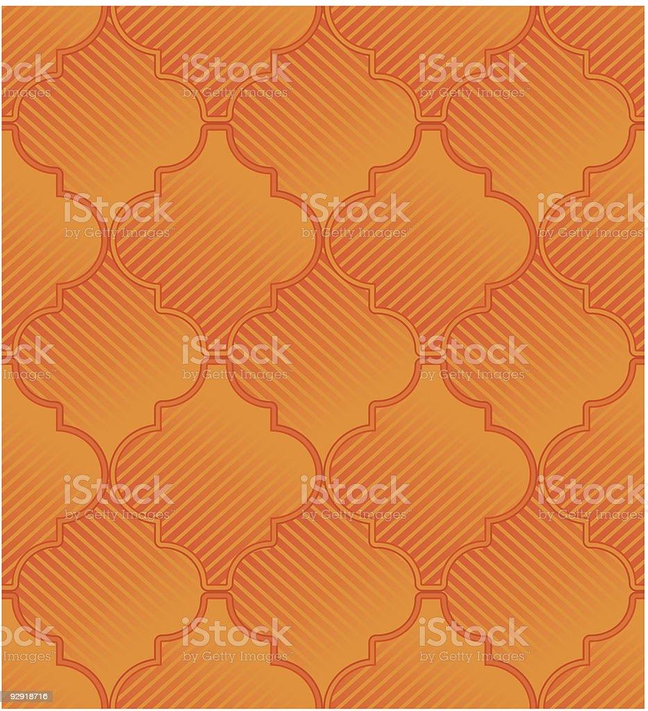 Seamless Retro Wallpaper Pattern royalty-free stock vector art