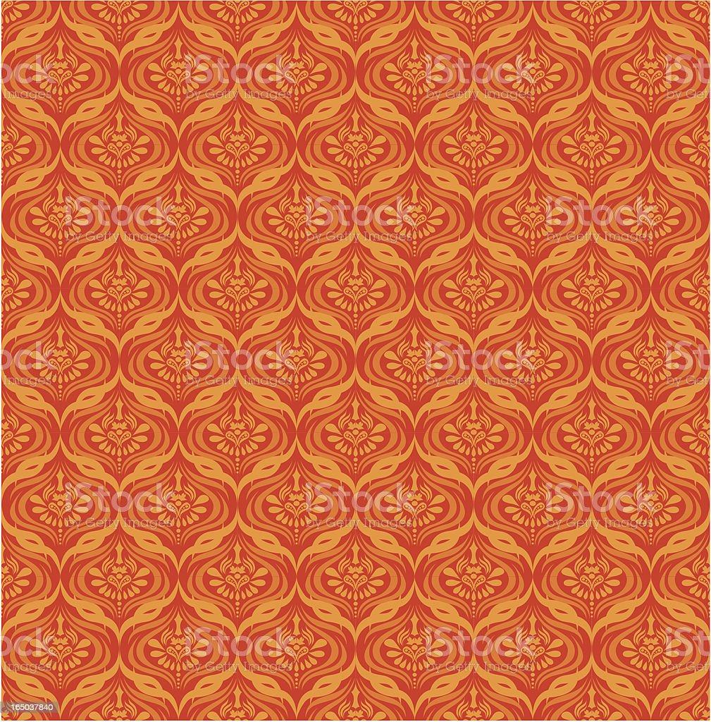 Seamless Retro Wallpaper ( Vector ) royalty-free stock vector art