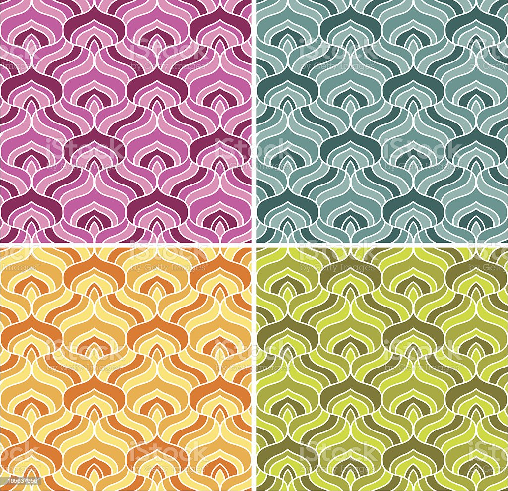 Seamless retro wallpaper royalty-free stock vector art