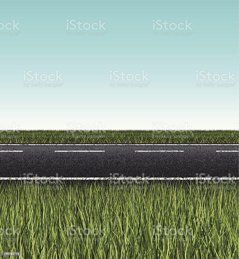 seamless road banner vector art illustration