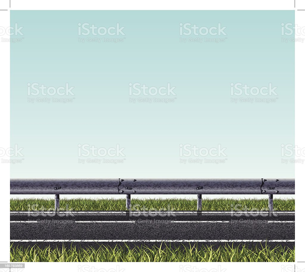 Seamless road banner royalty-free stock vector art