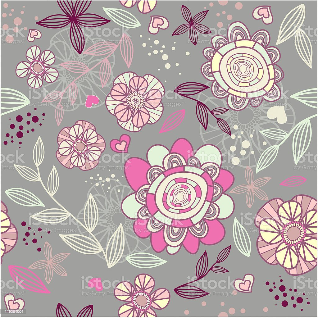 seamless romantic wallpaper royalty-free stock vector art