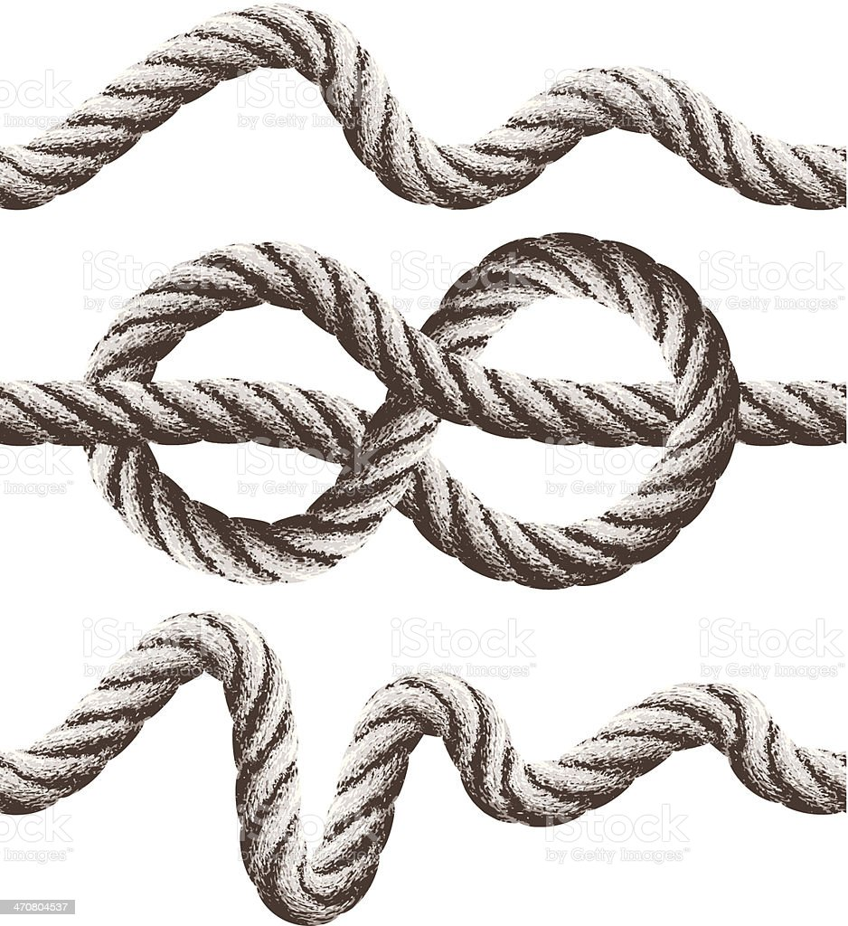 seamless rope banners royalty-free stock vector art