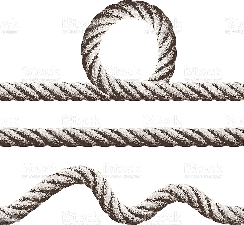 seamless rope  banners vector art illustration