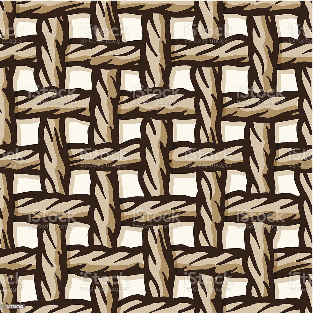 seamless rope net tile vector art illustration