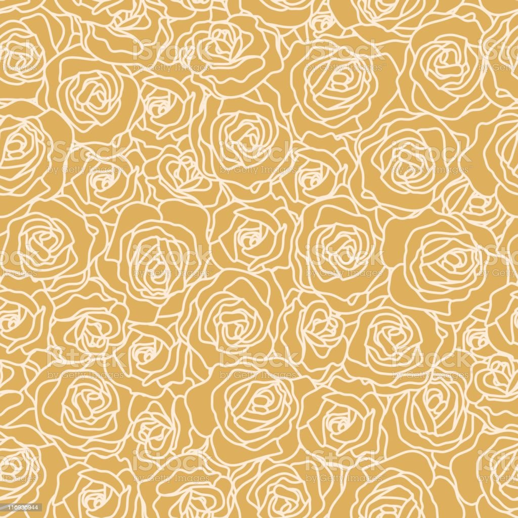 Seamless Rose Wallpaper royalty-free stock vector art