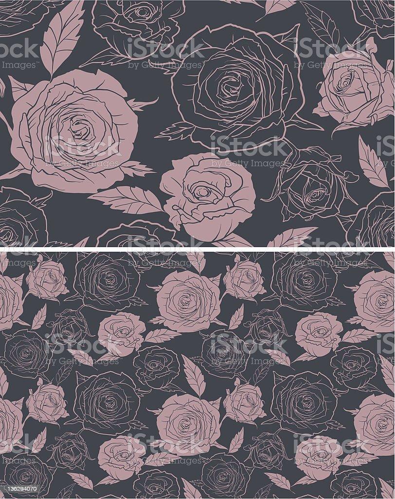 Seamless roses royalty-free stock vector art
