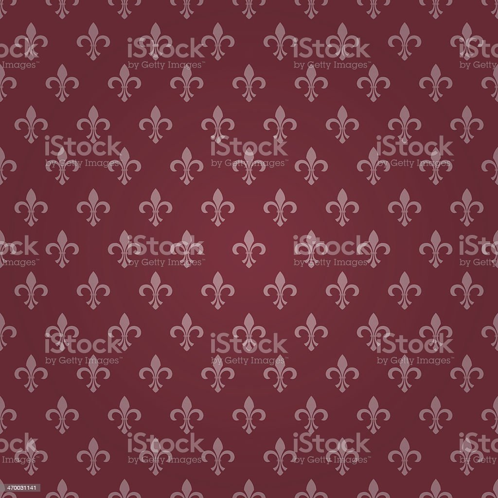 Seamless Royal Lily Wallpaper vector art illustration