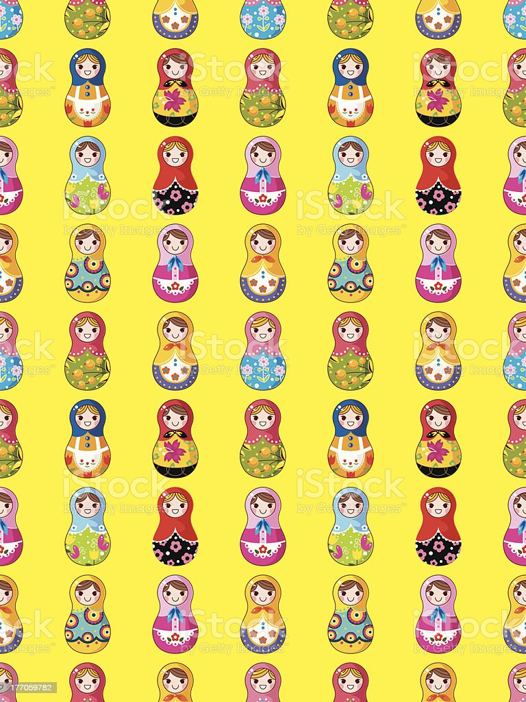 seamless Russian doll pattern royalty-free stock vector art