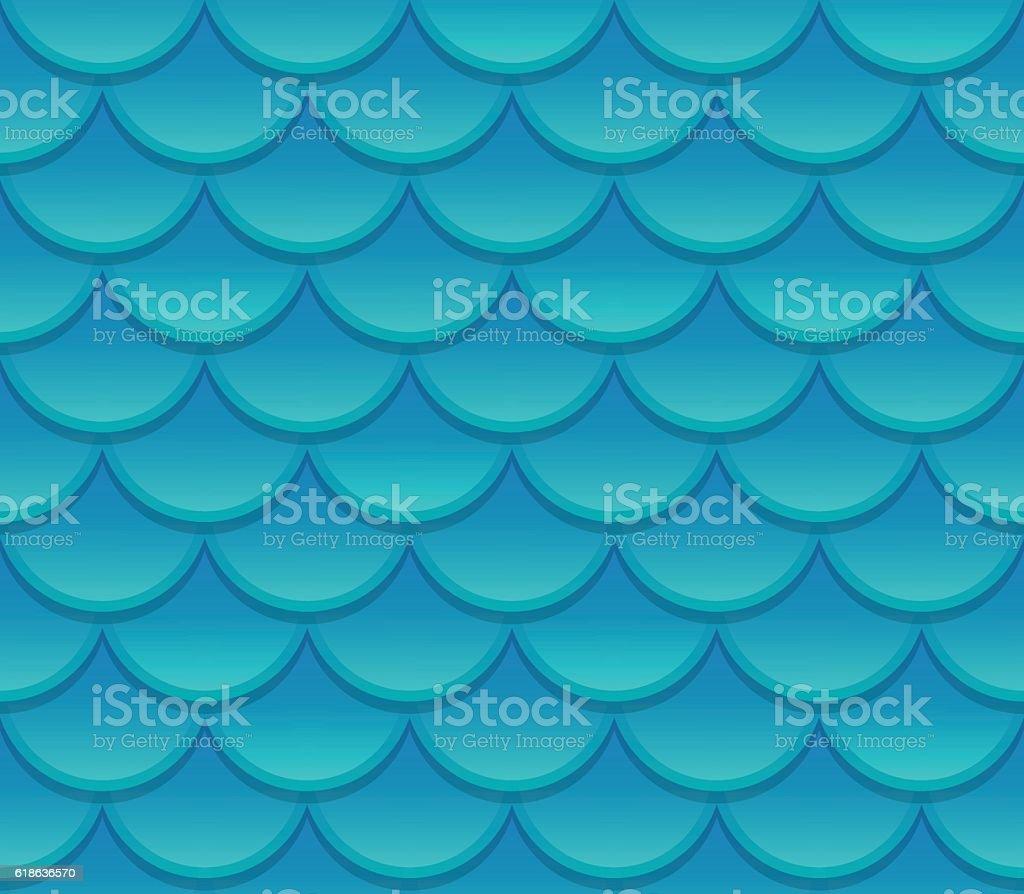 Seamless scale texture vector art illustration