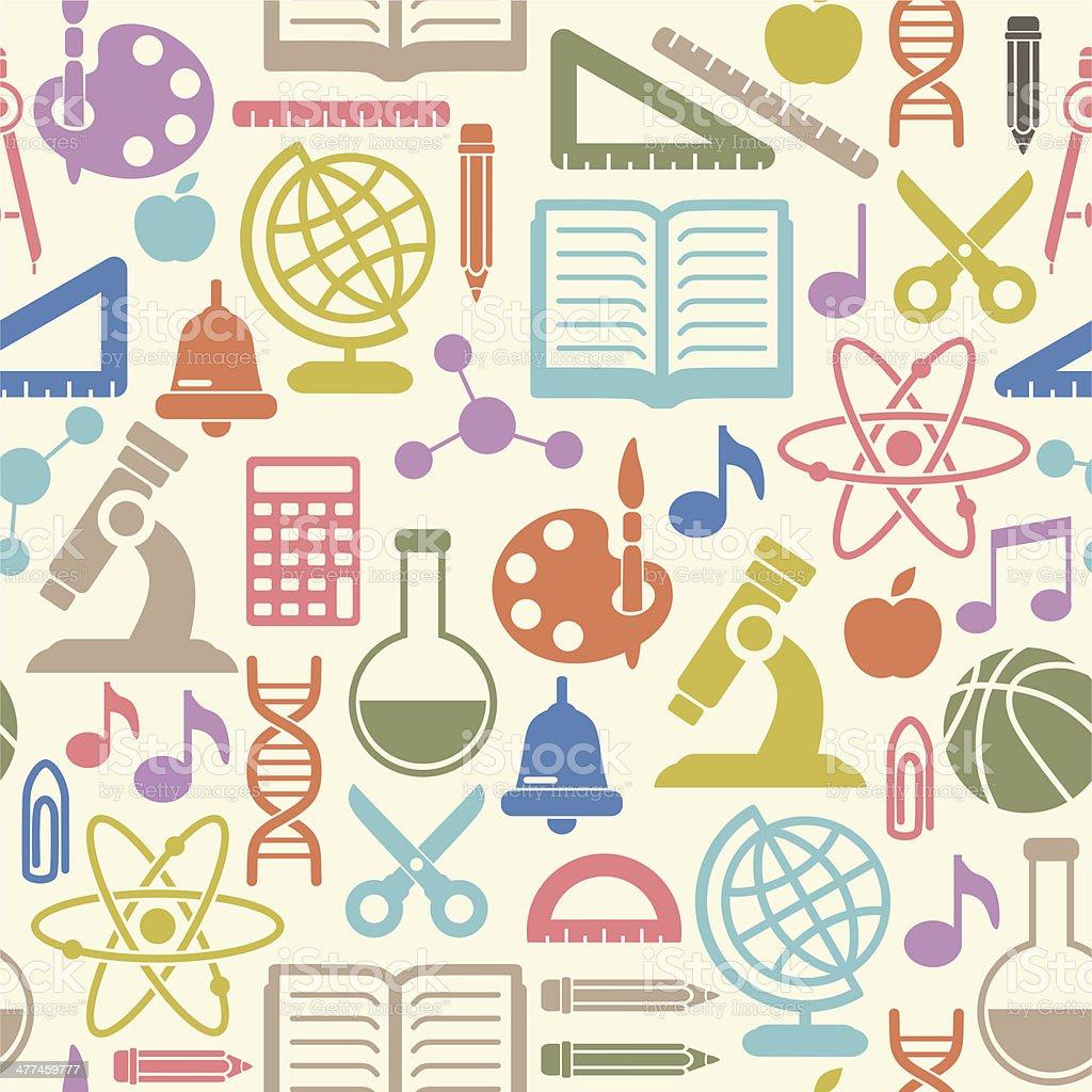 Seamless School background royalty-free stock vector art