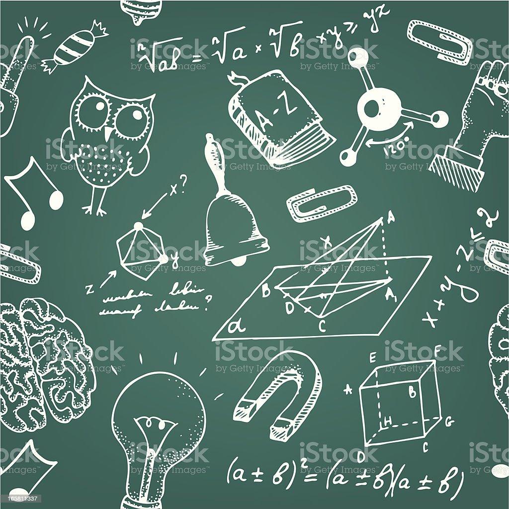 Seamless school blackboard pattern royalty-free stock vector art