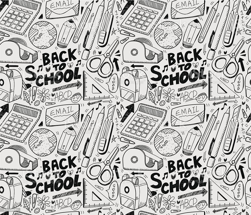 seamless school pattern royalty-free stock vector art