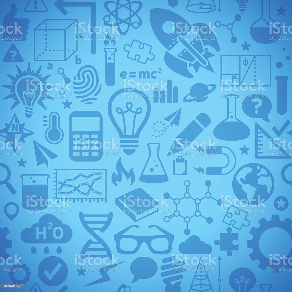 Seamless Science Background vector art illustration