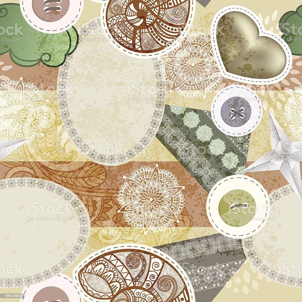 seamless scrapbook style pattern royalty-free stock vector art