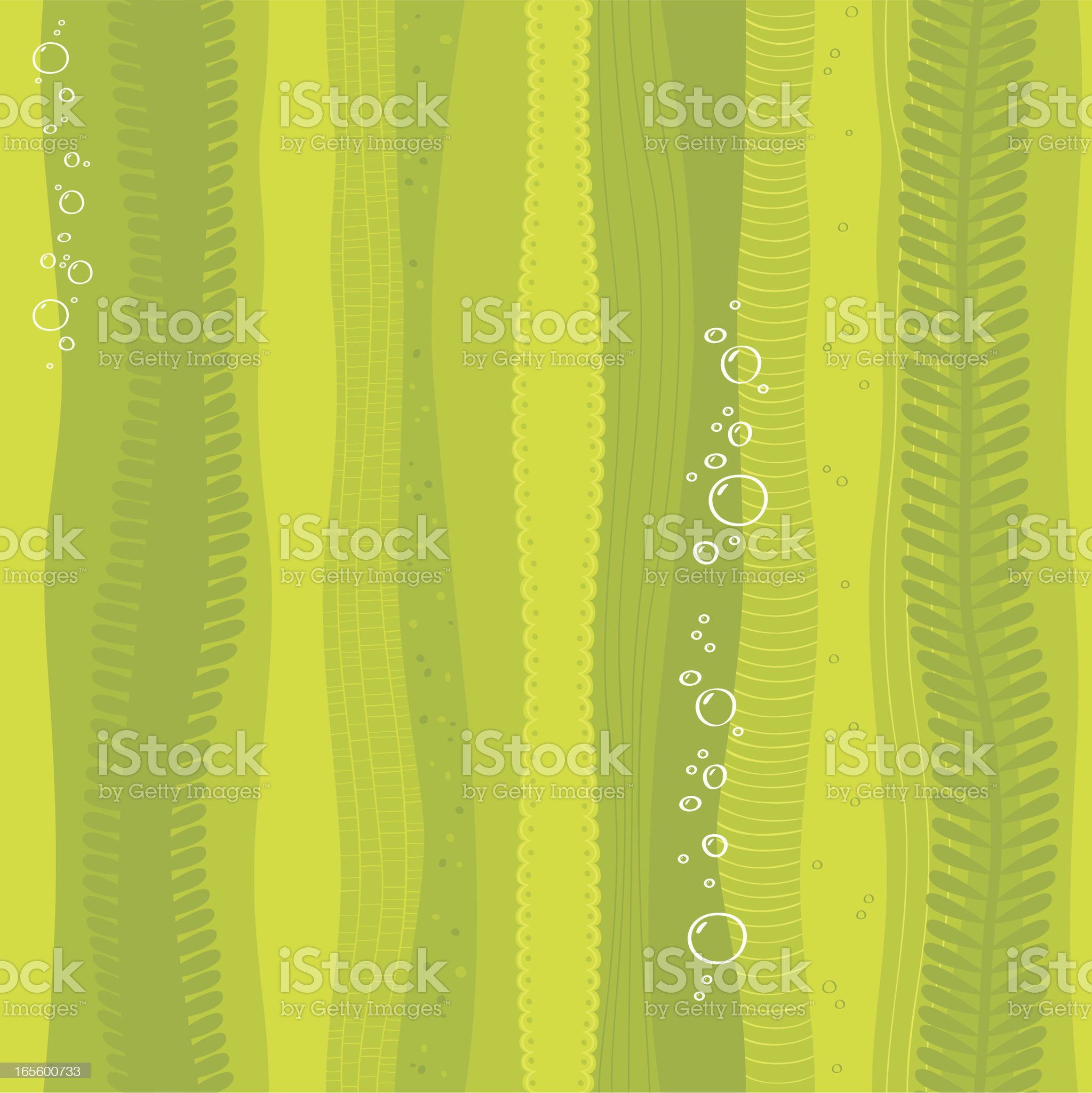 Seamless seaweed background royalty-free stock vector art