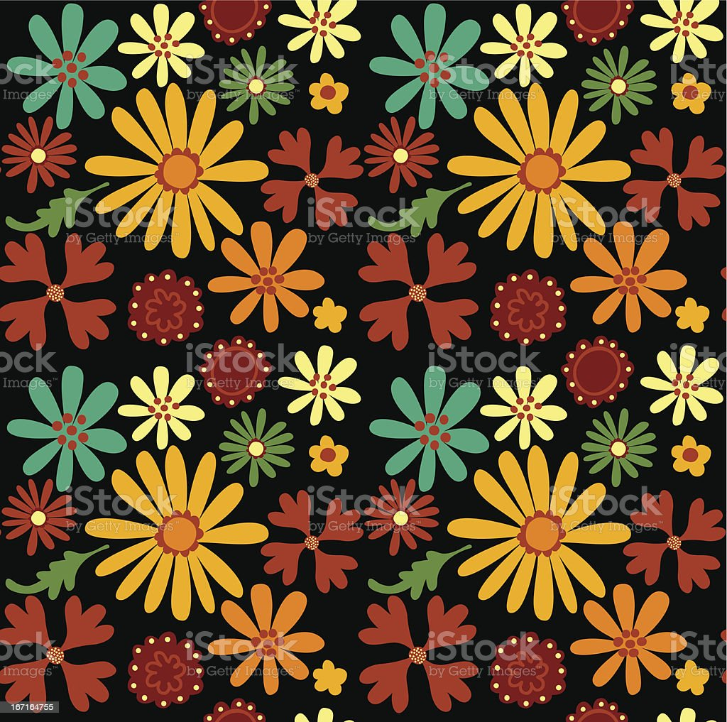 seamless set of flowers royalty-free stock vector art