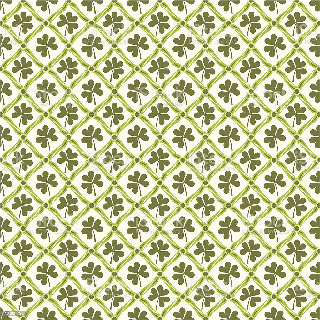 Seamless Shamrock Wallpaper ( Vector ) royalty-free stock vector art