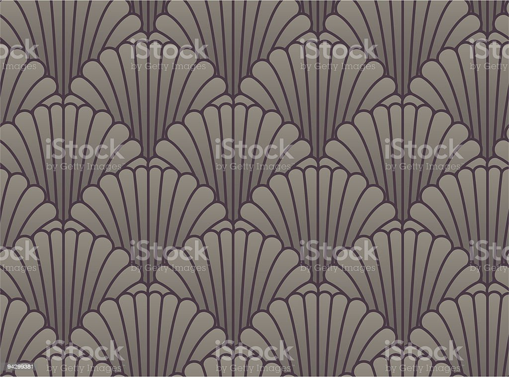 Seamless shell wallpaper vector art illustration
