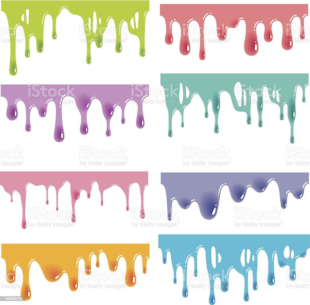 Seamless Shiny Jelly Splats vector art illustration