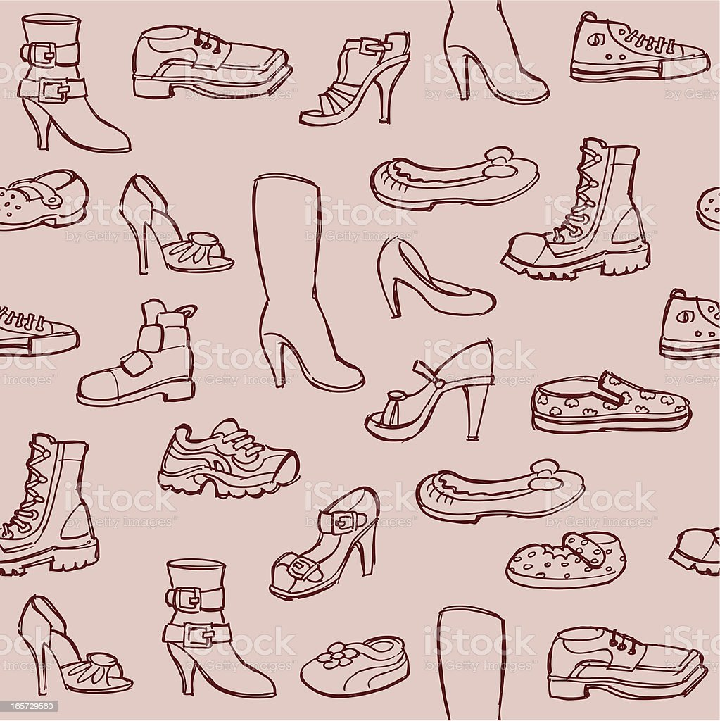 Seamless Shoes royalty-free stock vector art