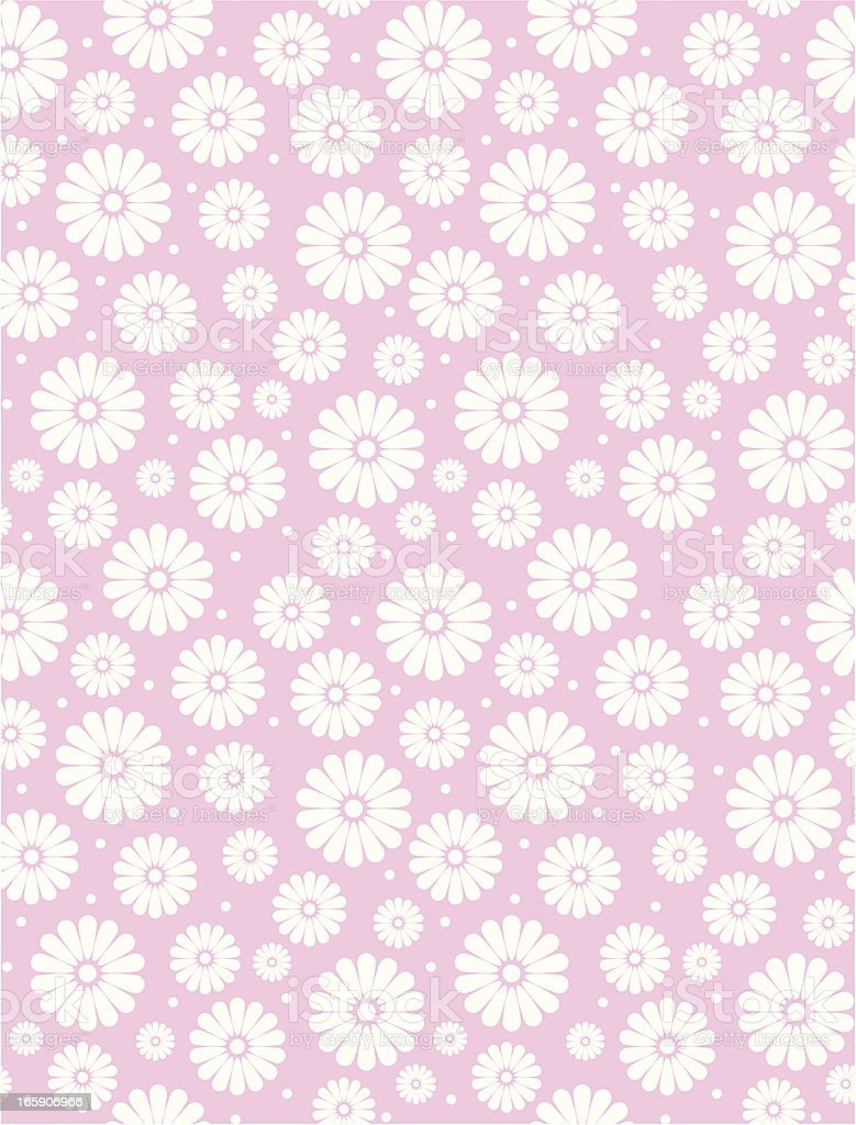 Seamless Simple Pink Daisy Polka Repeat Pattern royalty-free stock vector art