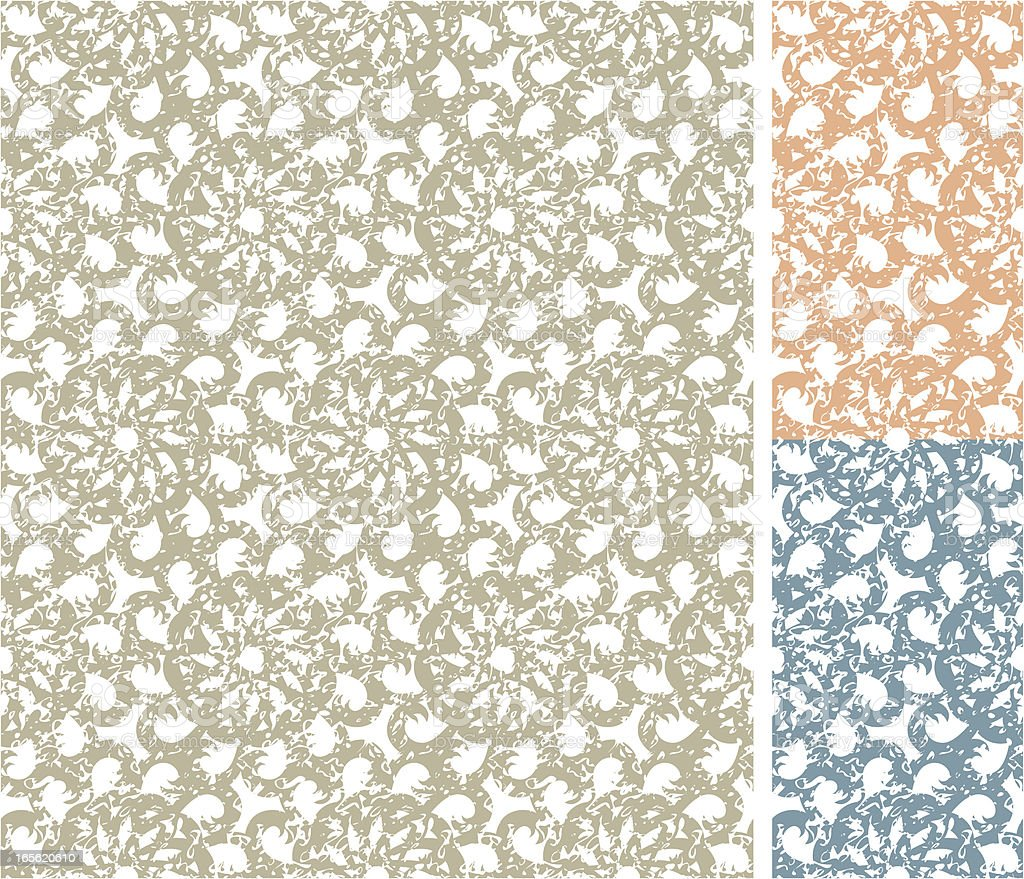 Seamless Sketchy Pattern royalty-free stock vector art