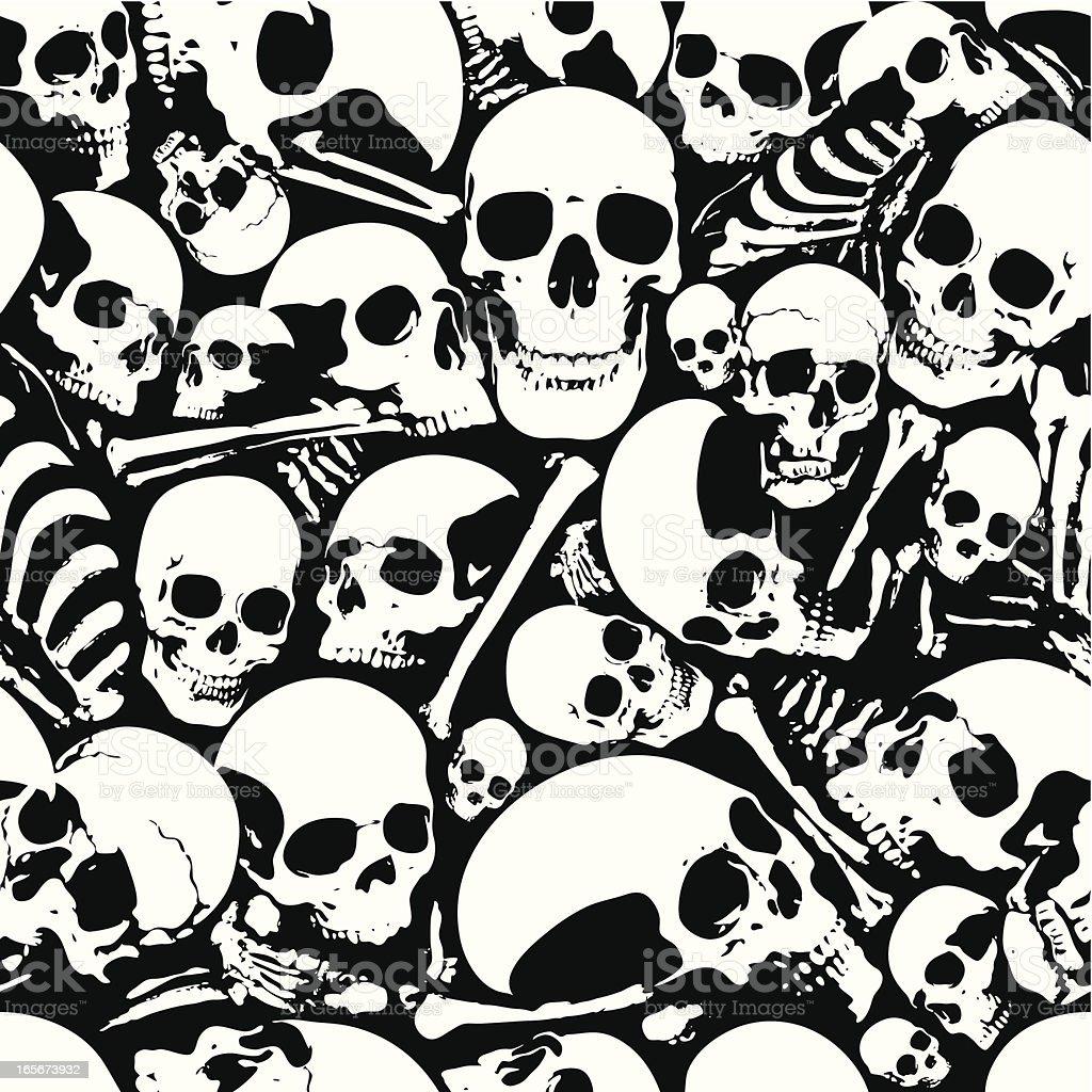Seamless skull wallpaper background vector art illustration