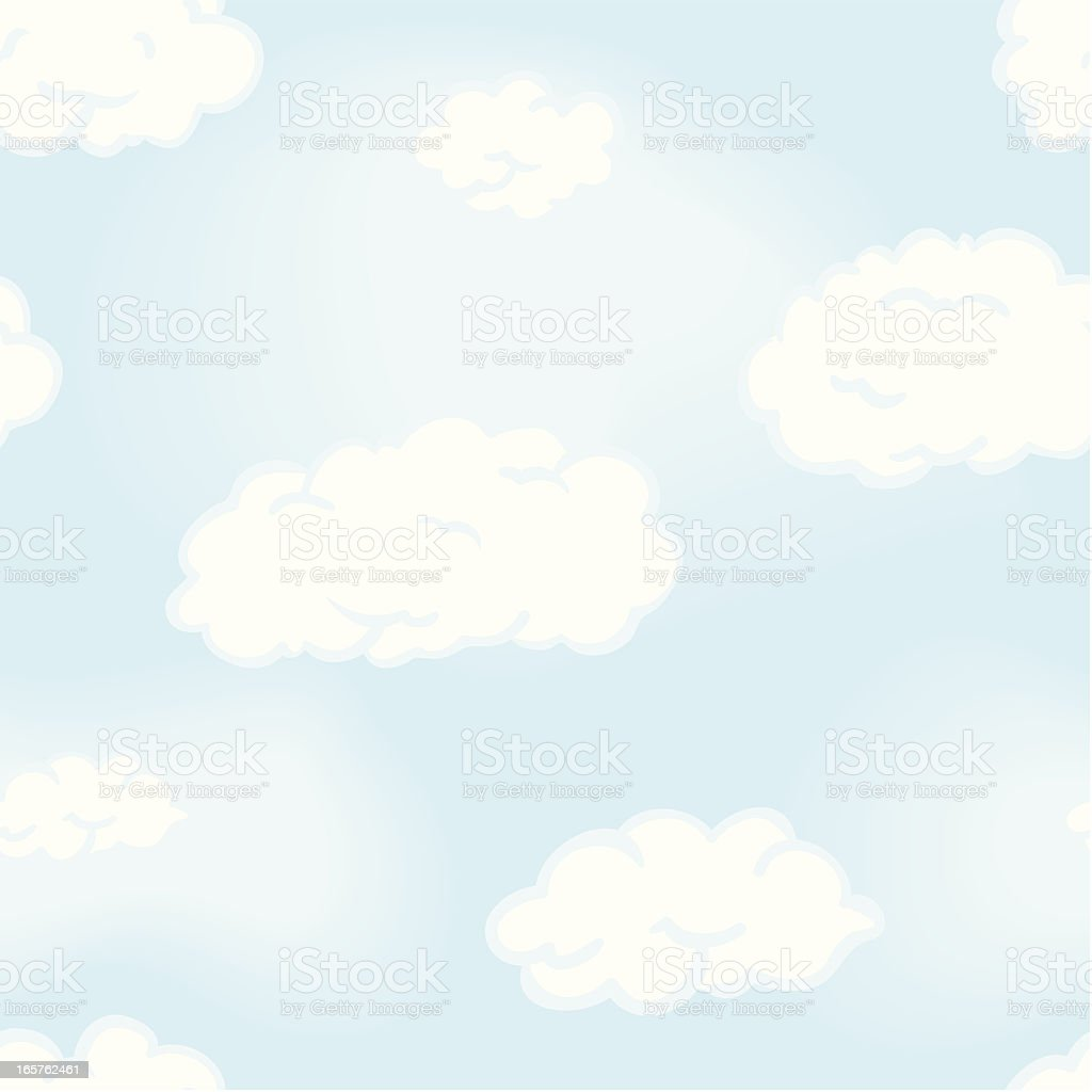 Seamless Sky Background royalty-free stock vector art