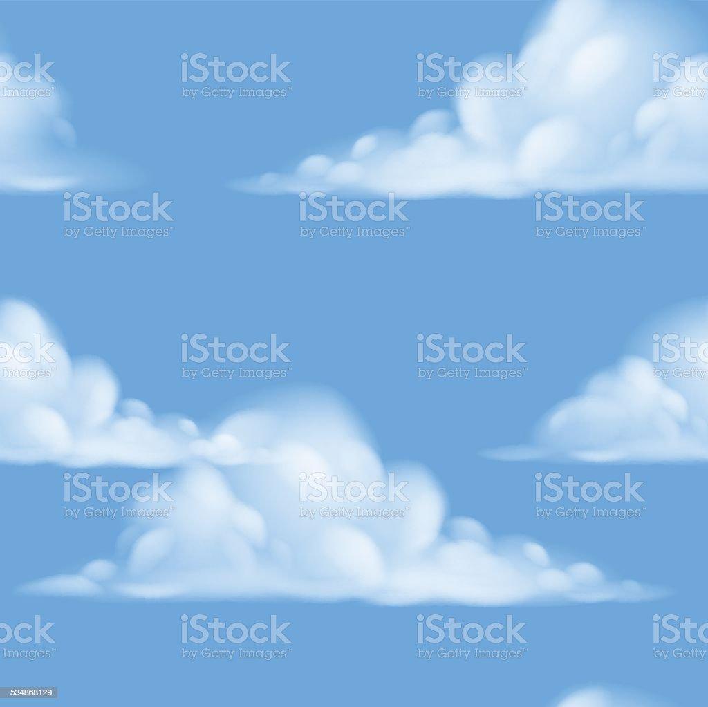 Seamless sky background vector art illustration
