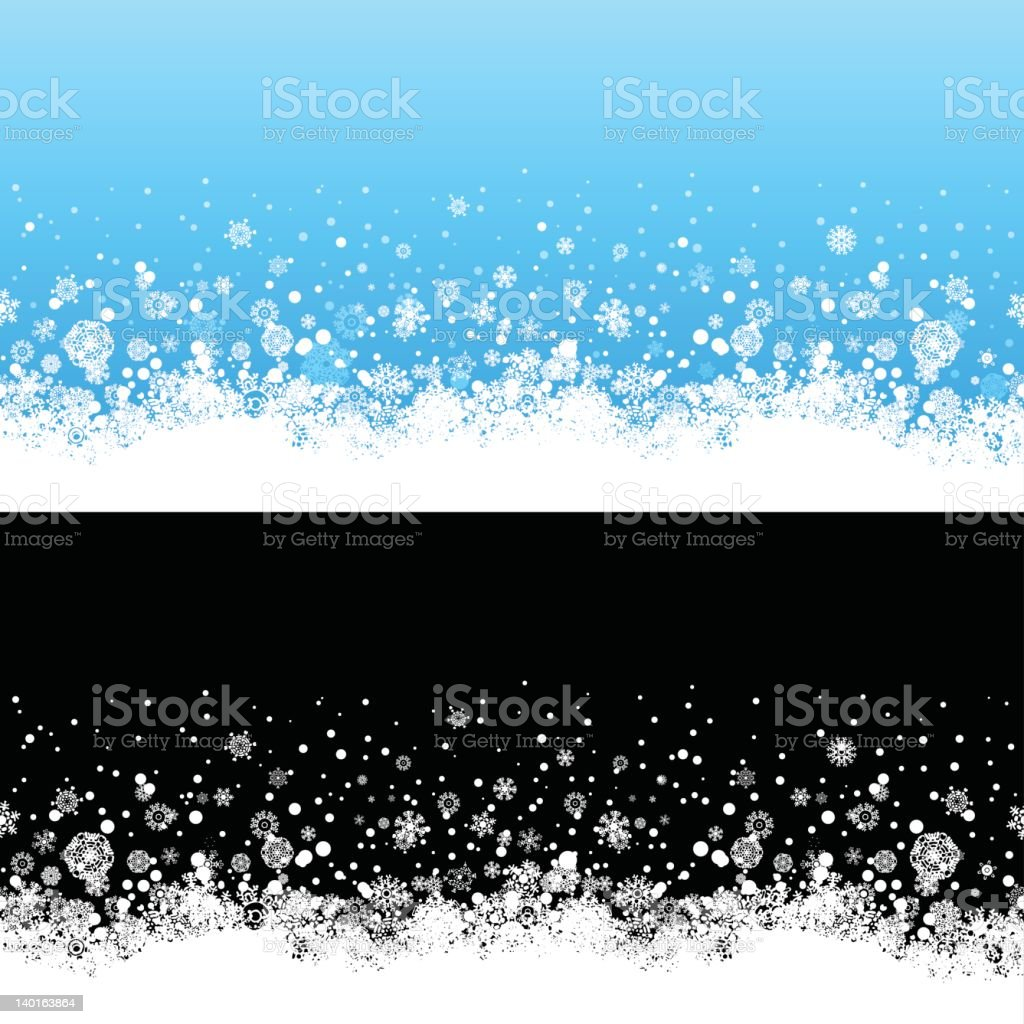 Seamless Snow Border vector art illustration