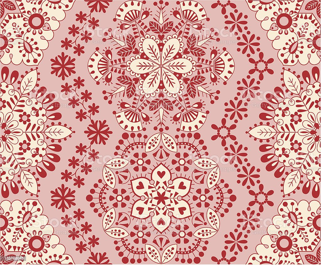 Seamless snowflake embroidery royalty-free stock vector art