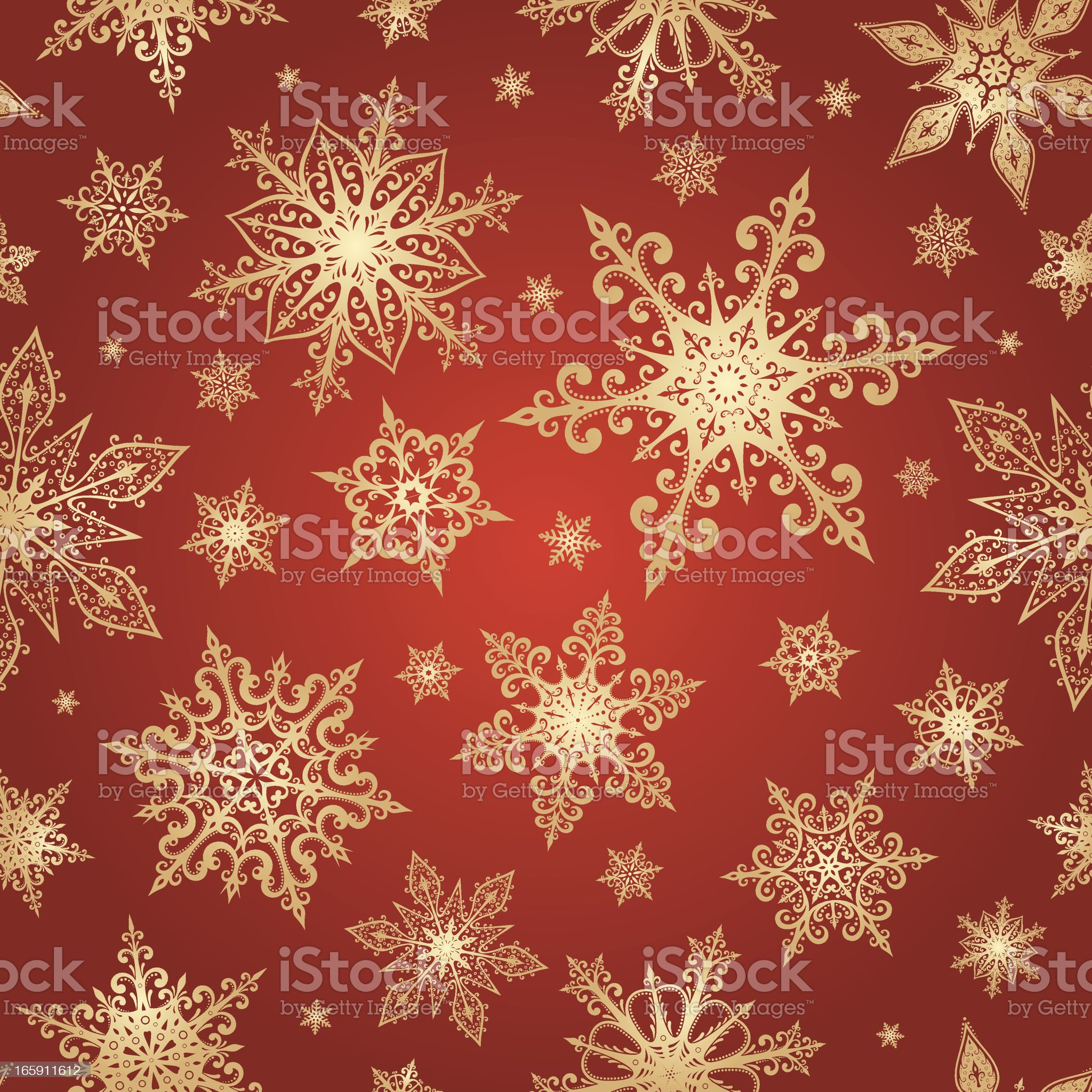 Seamless snowflake pattern royalty-free stock vector art