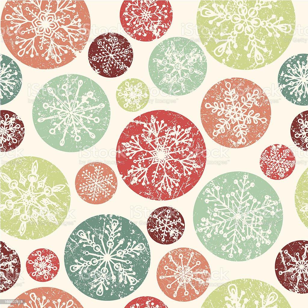 Seamless Snowflake Pattern vector art illustration