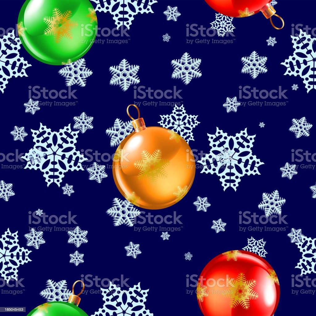 seamless snowflake pattern royalty-free stock vector art