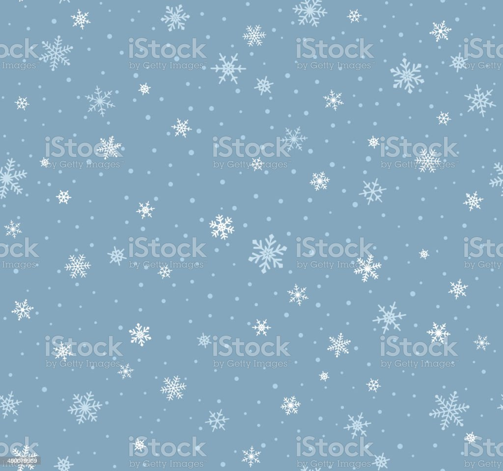 Seamless Snowflake Pattern vector art illustration
