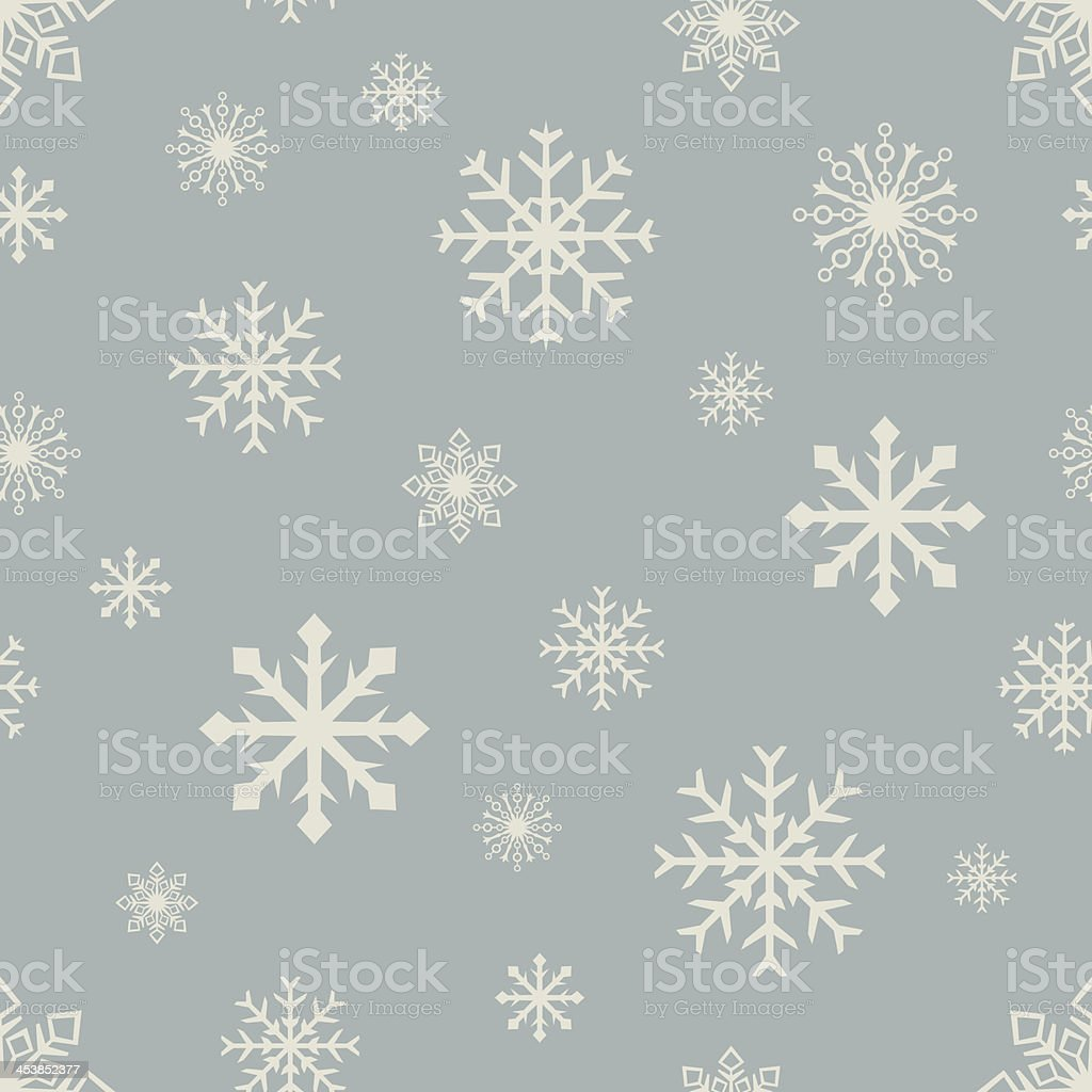 Seamless snowflake pattern. vector art illustration