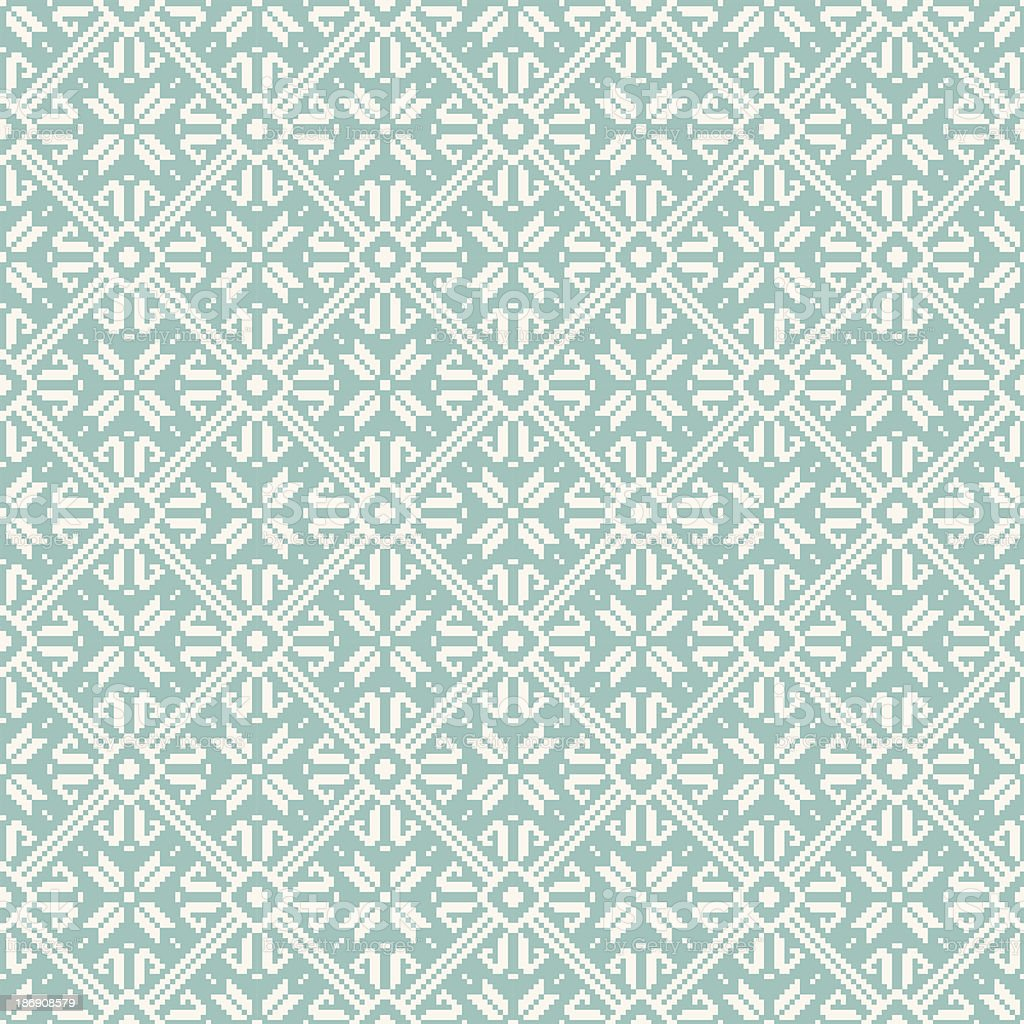 Seamless snowflakes background geometric pattern royalty-free stock vector art