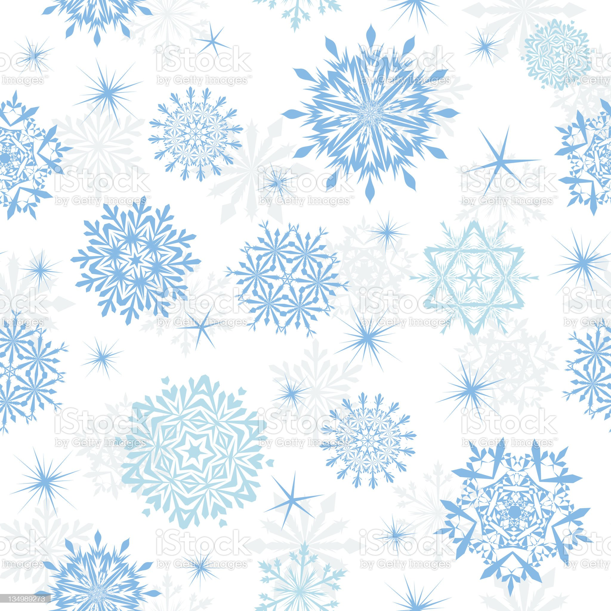 seamless snowflakes background royalty-free stock vector art